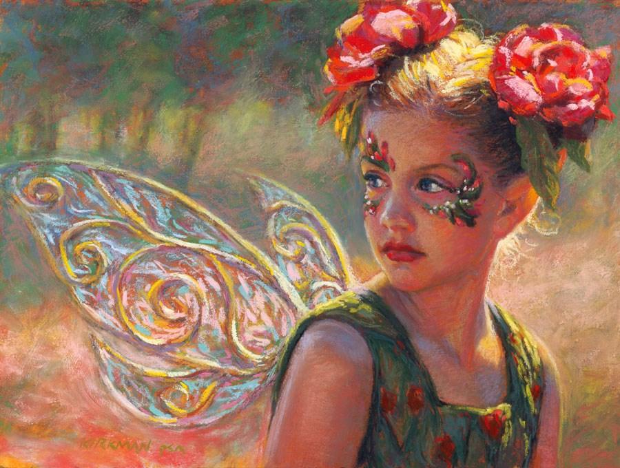 """The Fairy Rose - First Place Portrait"" original fine art by Rita Kirkman"