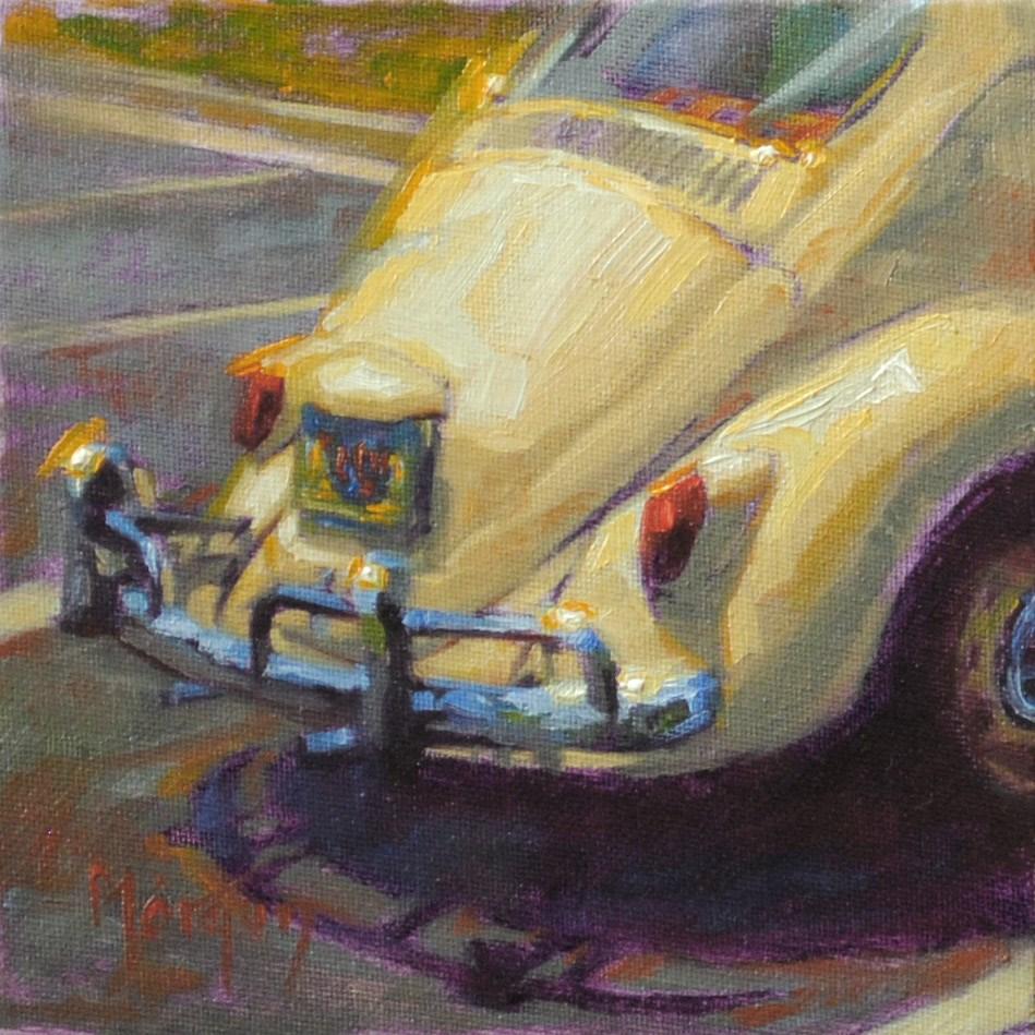 """""""Vintage Beetle #2"""" original fine art by Cecile W. Morgan"""