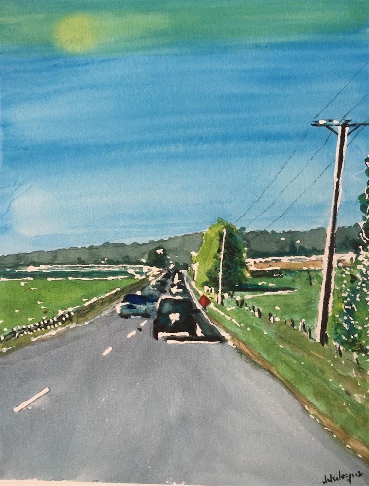 """On the Road"" original fine art by Juan Velasquez"