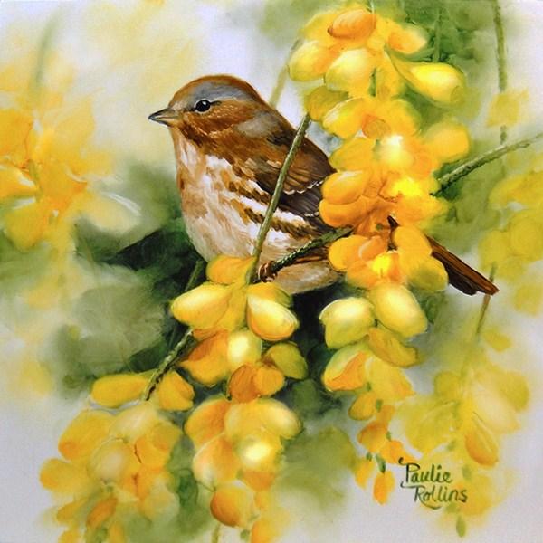 """Golden Showers of Flowers"" original fine art by Paulie Rollins"