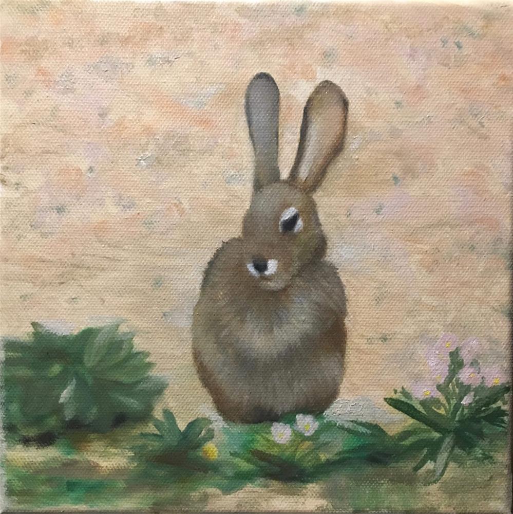 """""""Bunny"""" original fine art by Karen Stitt"""