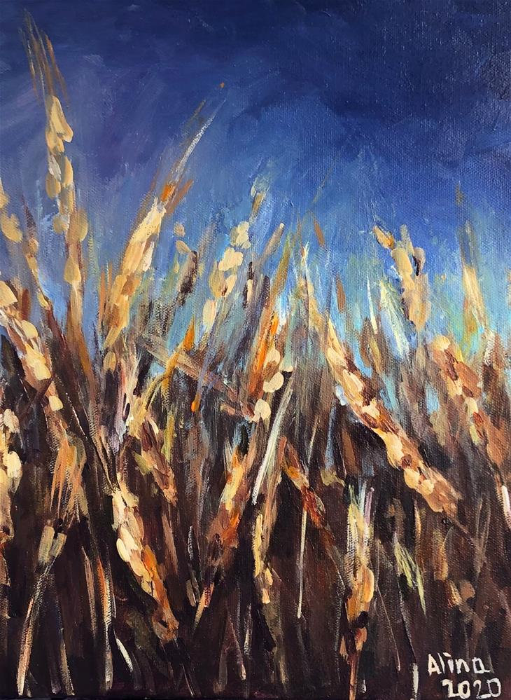 """Barley Crop"" original fine art by Alina Vidulescu"