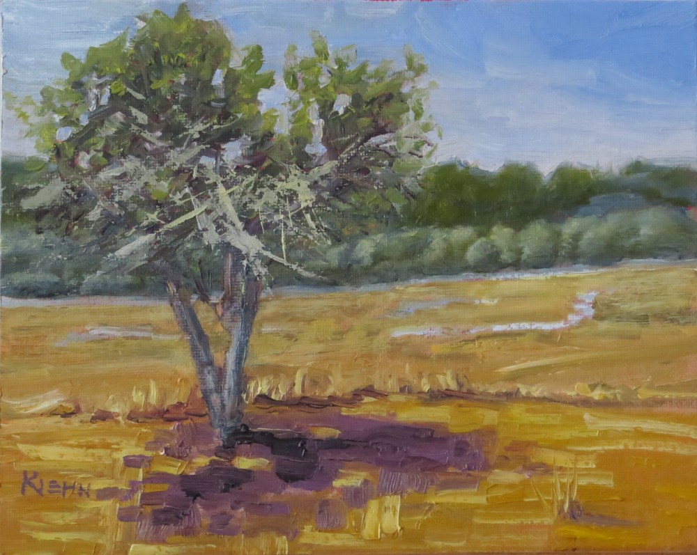 """Sentinel at Bandon Marsh"" original fine art by Richard Kiehn"