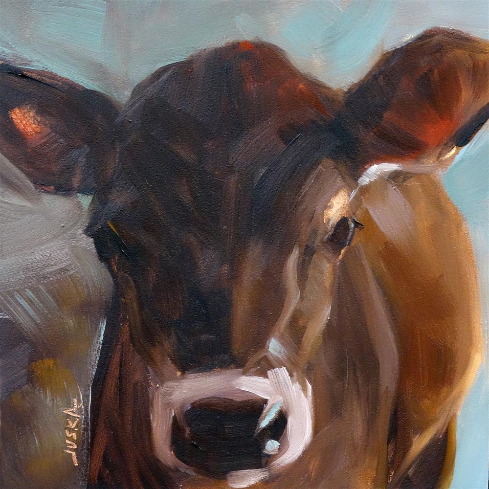 """Heifer"" original fine art by Elaine Juska Joseph"
