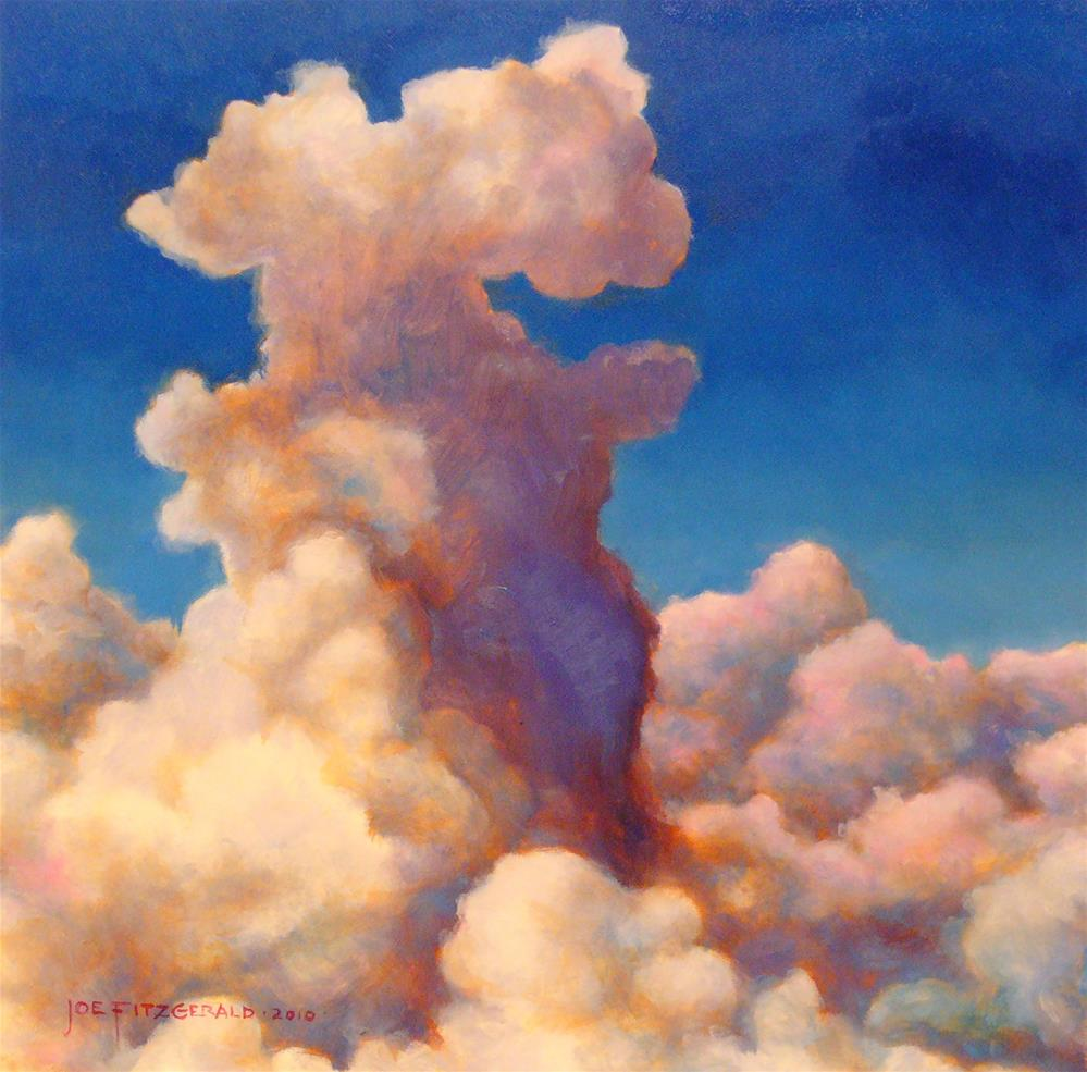"""Clouds Over Italy"" original fine art by Joe Fitzgerald"