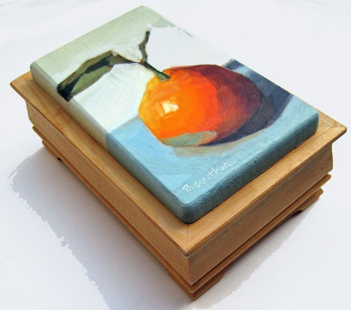 """Mandarin Orange Box"" original fine art by Robin Rosenthal"