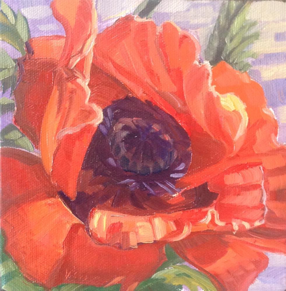 """""""Oriental Poppy"""" original fine art by Valerie Orlemann"""