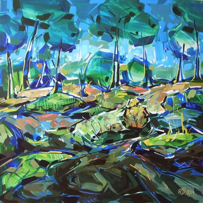 """Landscape exploration 2"" original fine art by Roger Akesson"