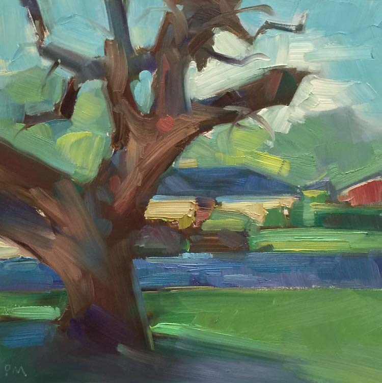 """A Little Bit of Sunshine on a Rainy Day"" original fine art by Patti McNutt"