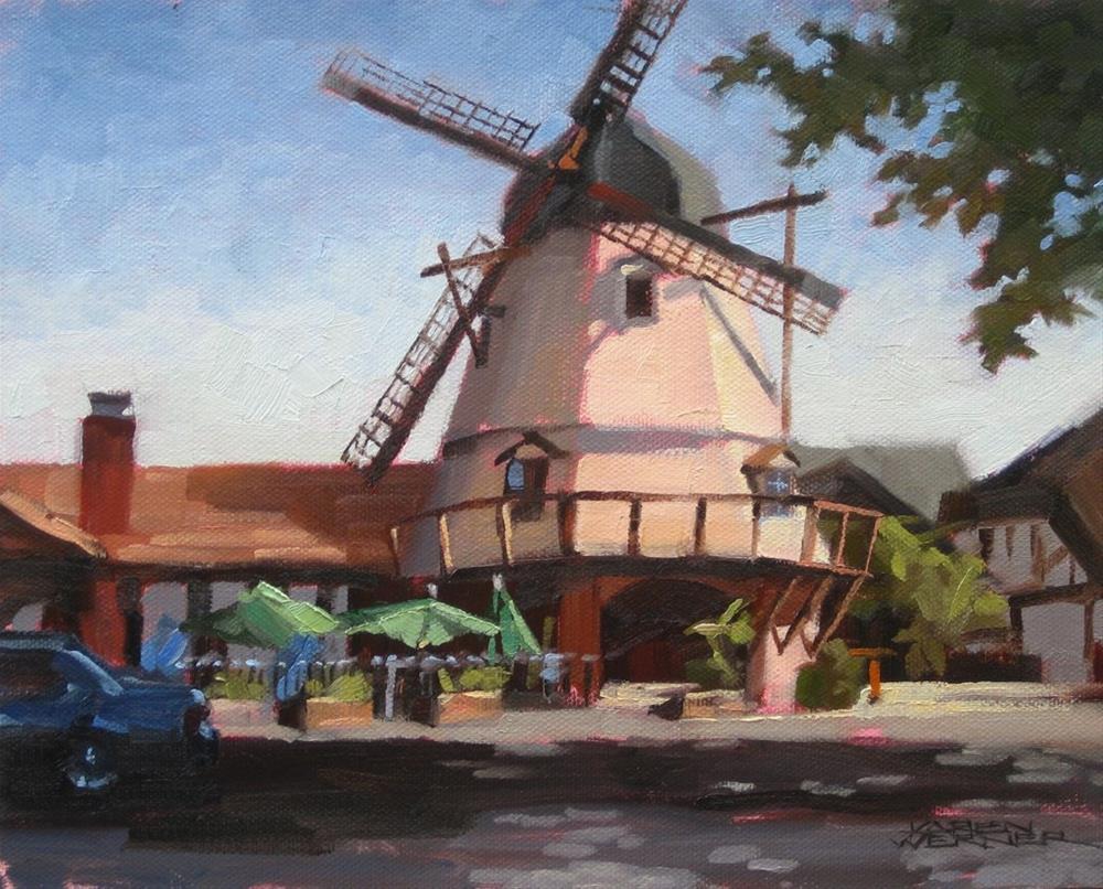 """Solvang Windmill"" original fine art by Karen Werner"