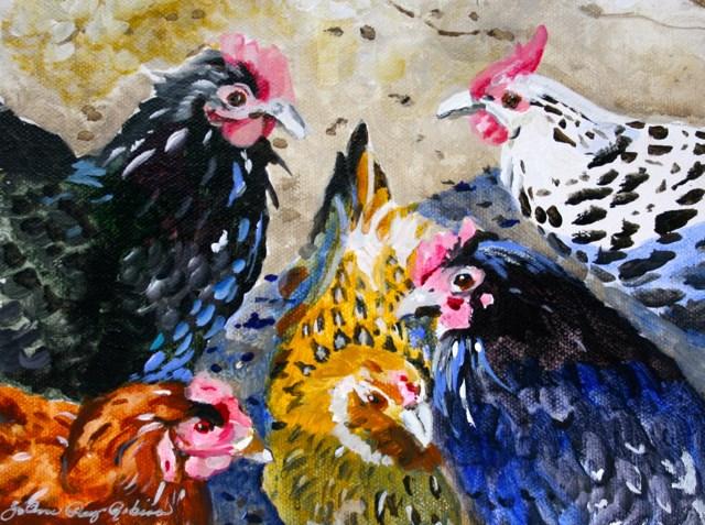 """""""Talking Heads"""" original fine art by JoAnne Perez Robinson"""