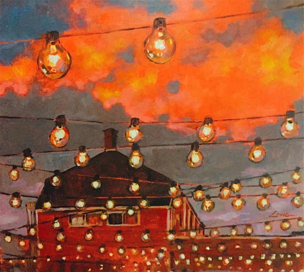 """Frenchmen Street Sunset"" original fine art by Chris Long"