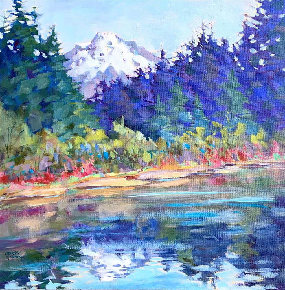 """""""Mt. Hood Colors"""" original fine art by Melissa Gannon"""