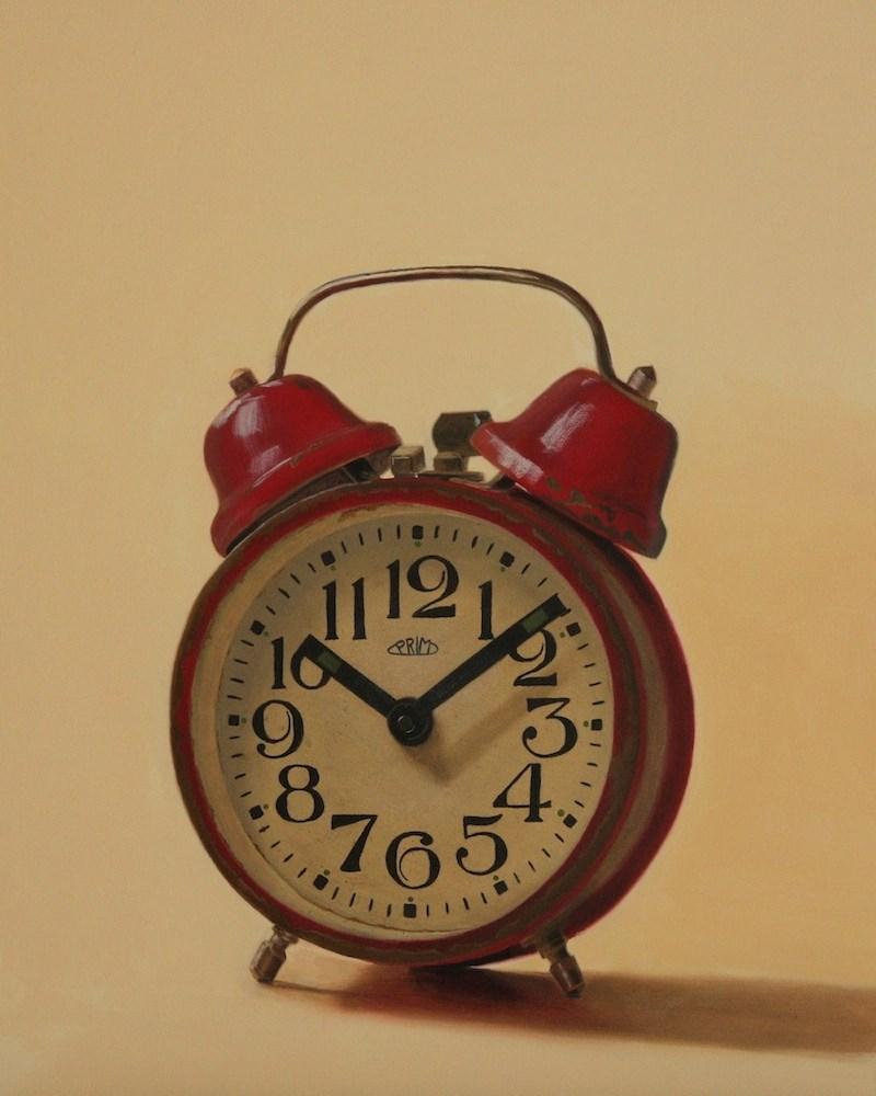 """The Red Clock #2"" original fine art by Susan Fern"