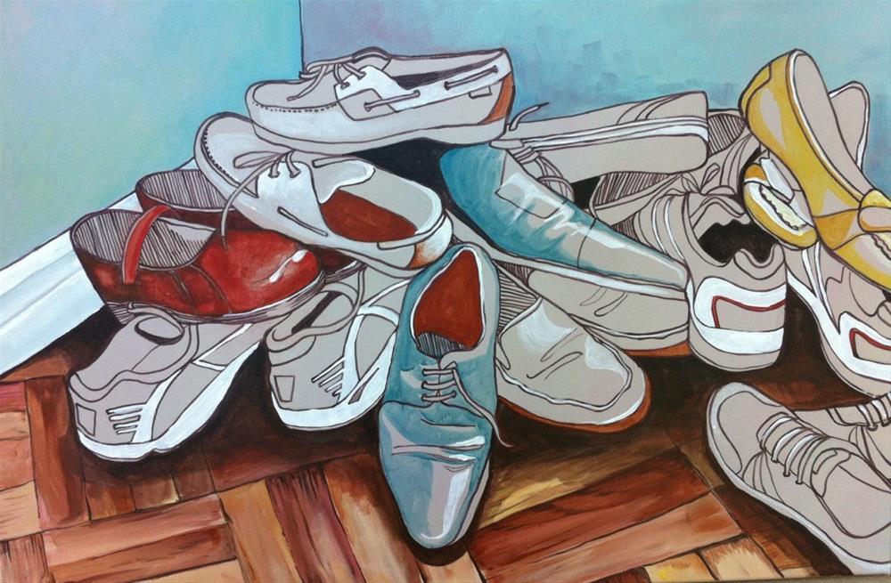 """""""Signs of a Healthy Church"""" original fine art by Teddi Parker"""
