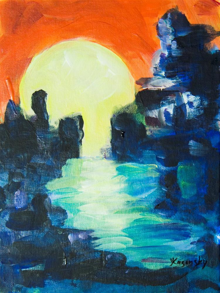 """Moon Flow"" original fine art by Yulia Kazansky"