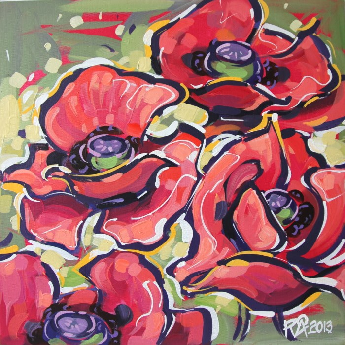 """""""Flower Abstraction 34"""" original fine art by Roger Akesson"""