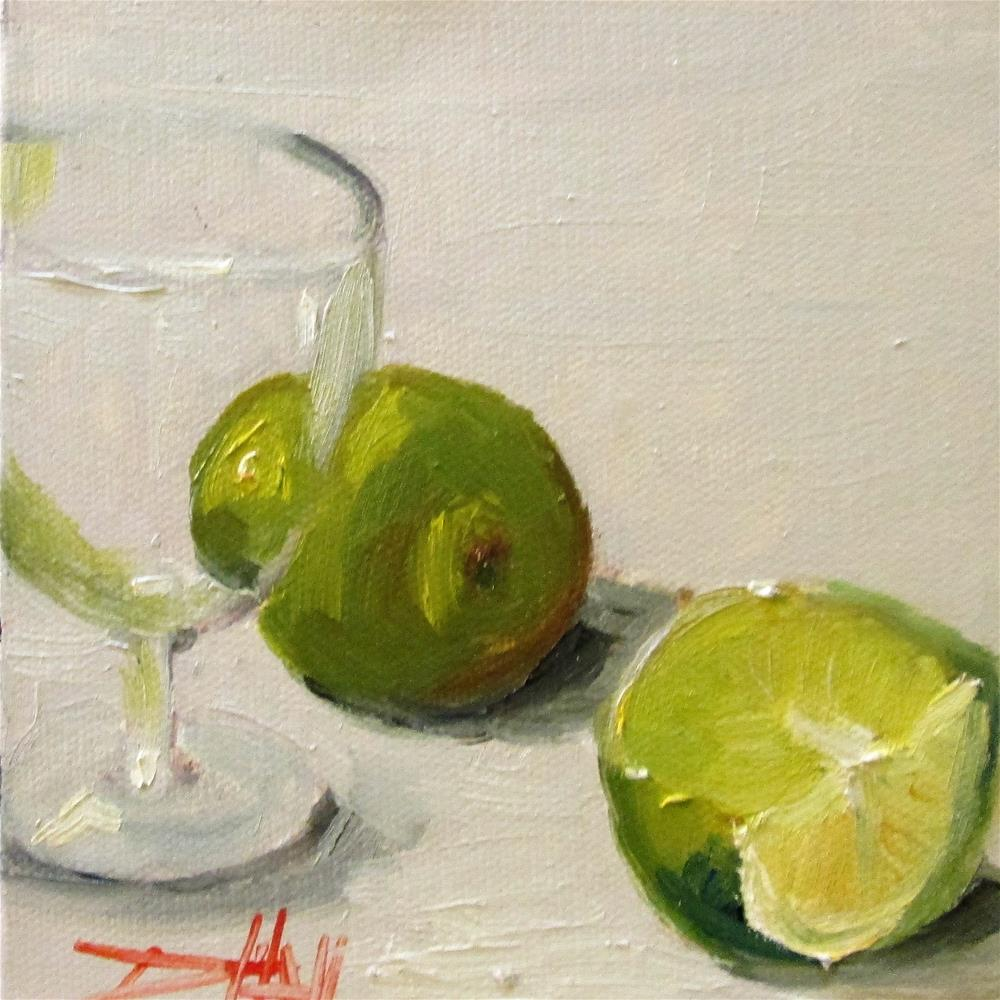 """Limes No. 2"" original fine art by Delilah Smith"