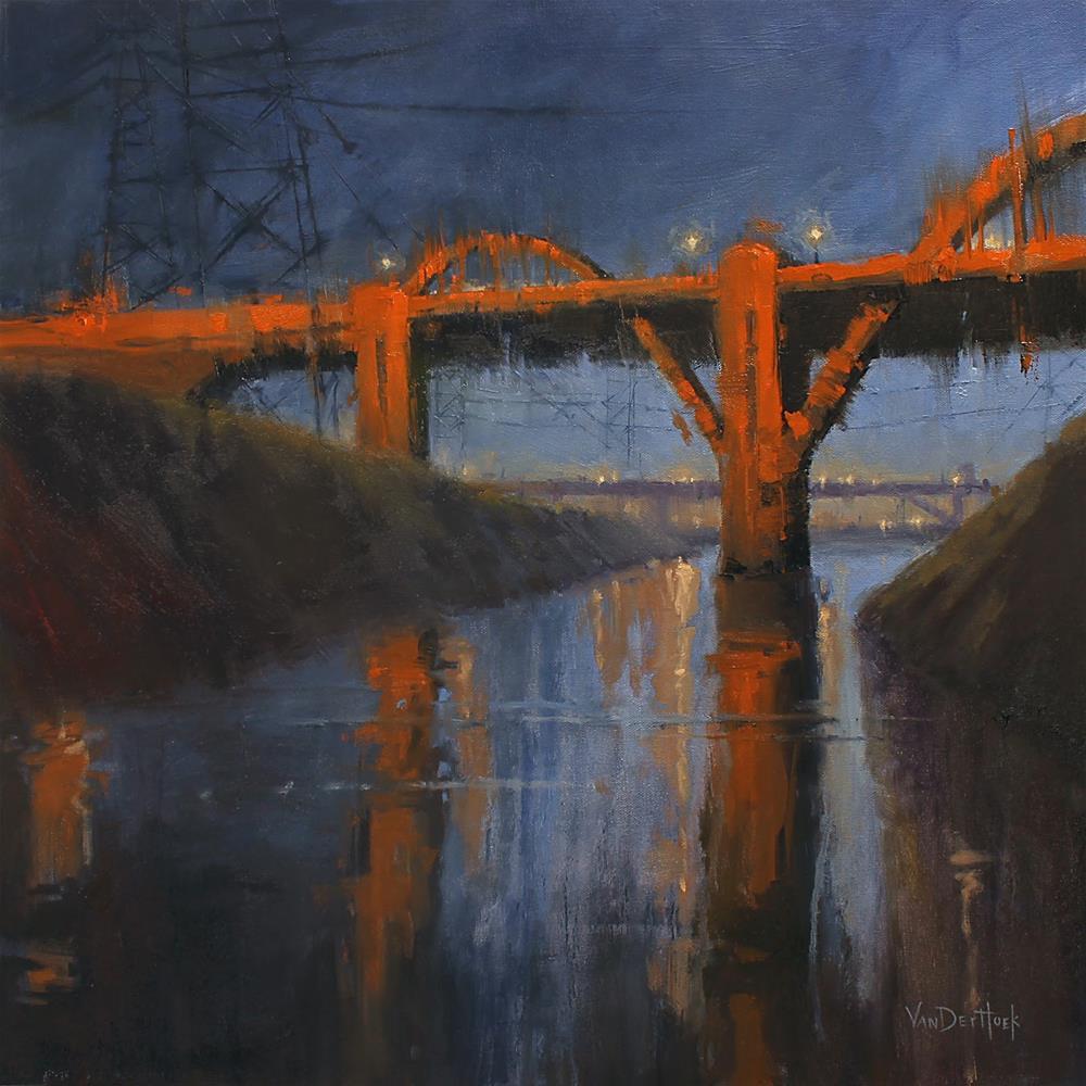 """6th Street Bridge Reflections"" original fine art by Kim VanDerHoek"