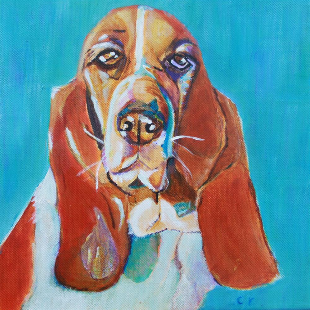 """Chleo, the Basset Hound"" original fine art by Christiane Kingsley"