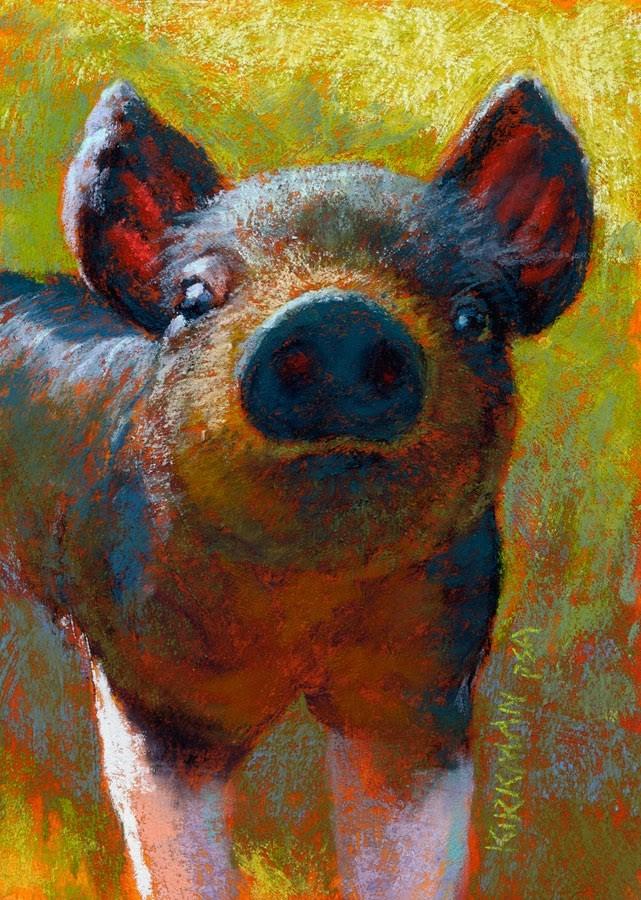 """Pansy"" original fine art by Rita Kirkman"