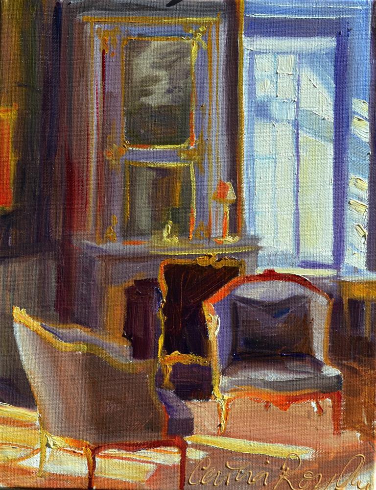 """CHATEAU INTERIOR art"" original fine art by Cecilia Rosslee"