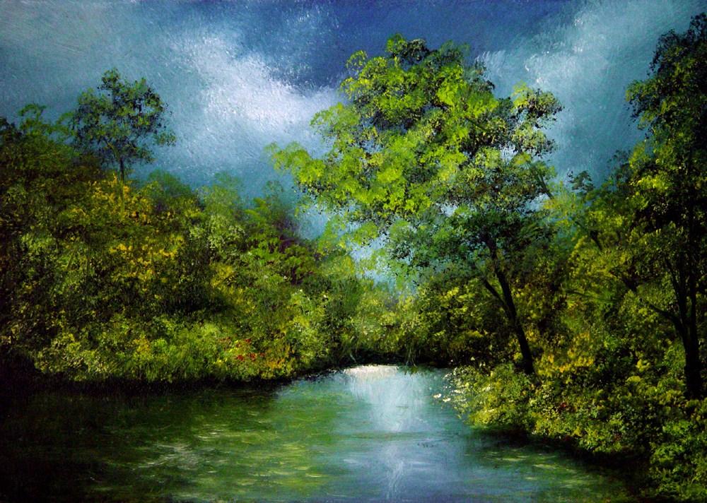 """A Small Cove"" original fine art by Bob Kimball"