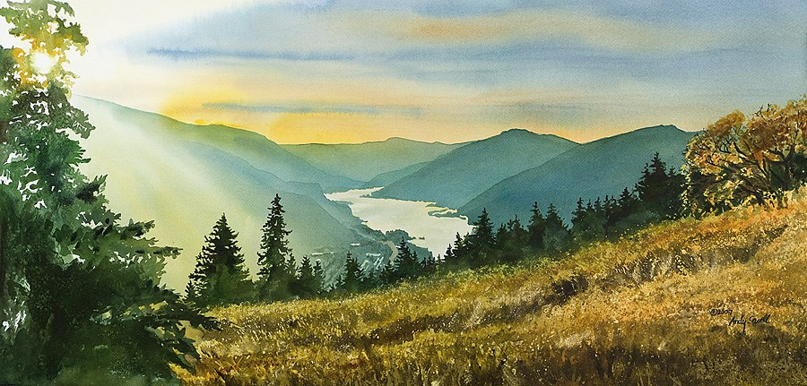 """""""Gorge Gold"""" original fine art by Andy Sewell"""