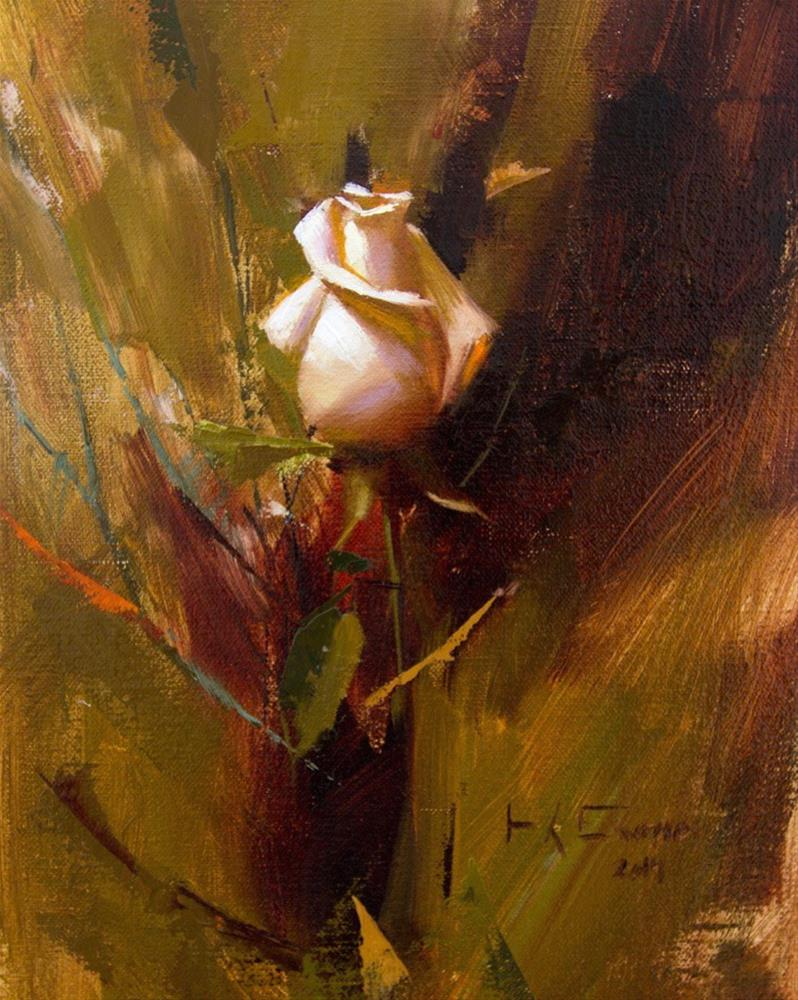 """White rose"" original fine art by Thorgrimur Andri Einarsson"