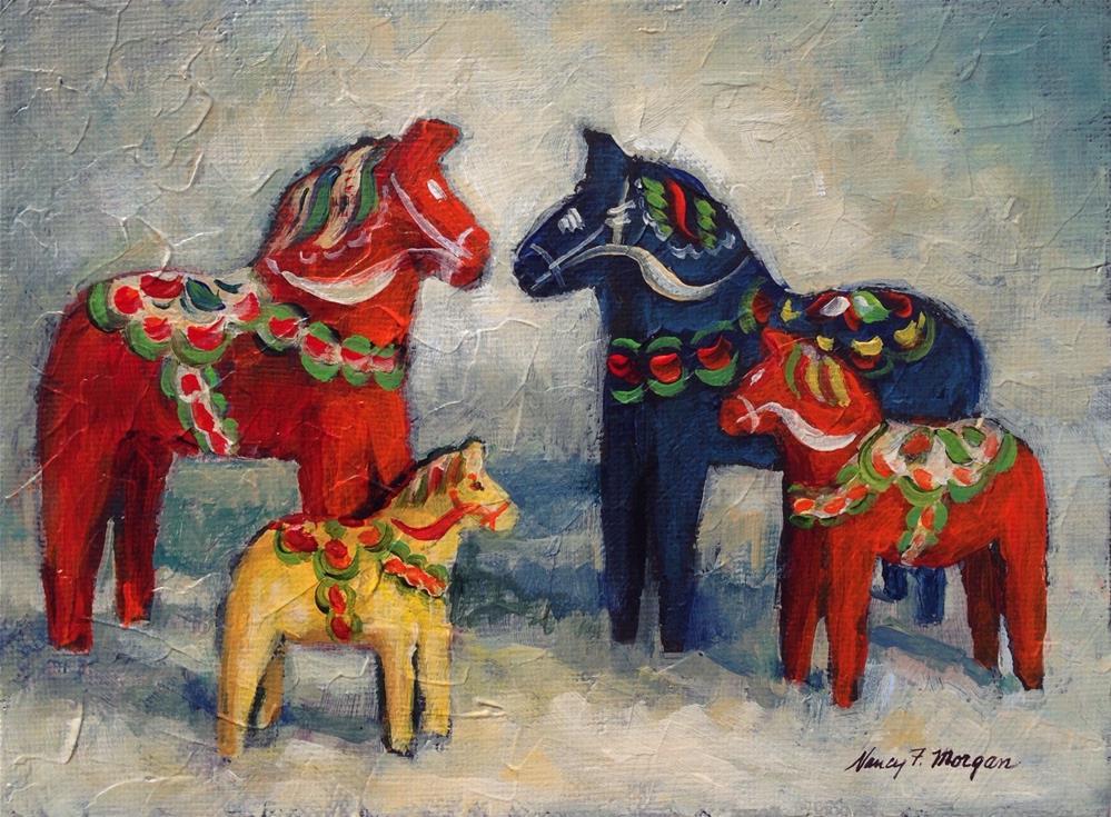 """Horse Talk"" original fine art by Nancy F. Morgan"