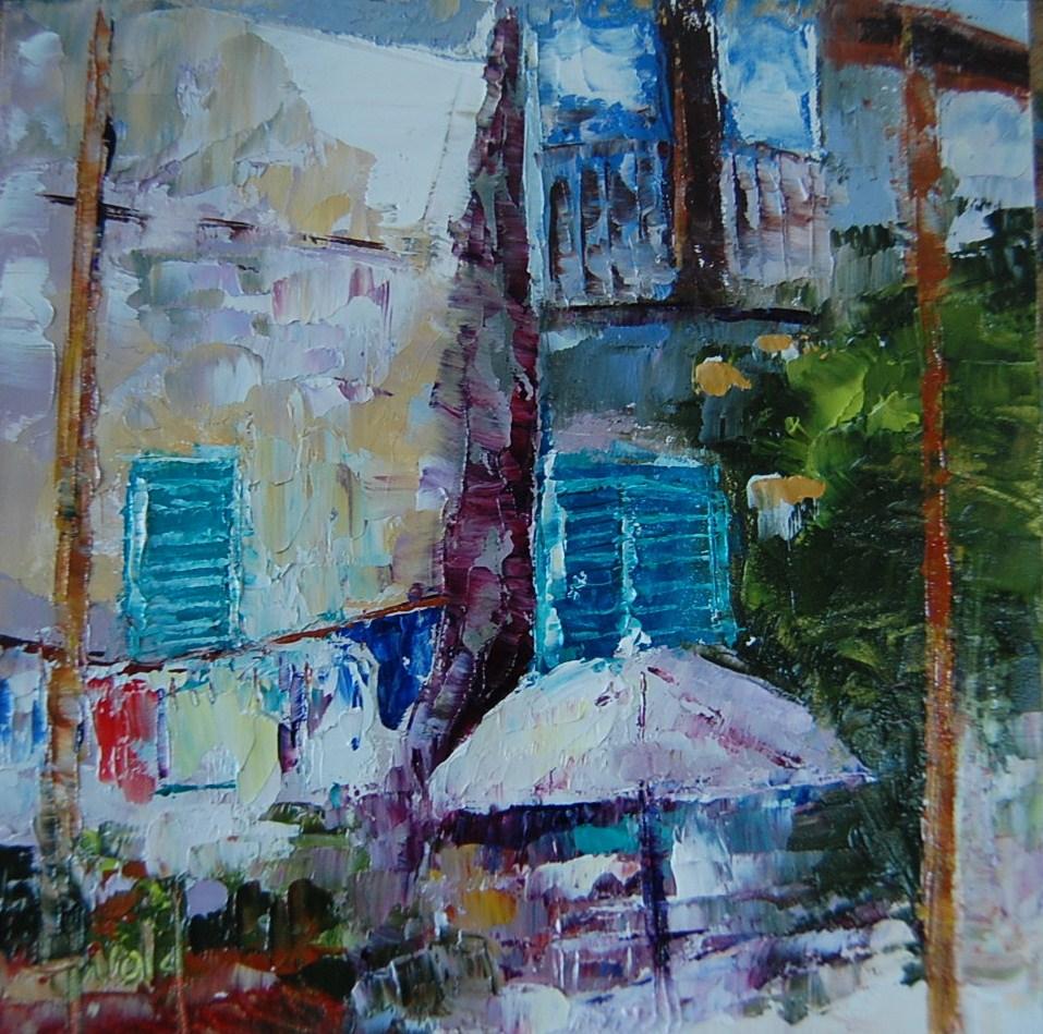 """Laundry in Paris"" original fine art by Deborah Harold"