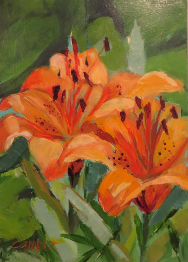 """""""652 Karen's Lilies"""" original fine art by Diane Campion"""