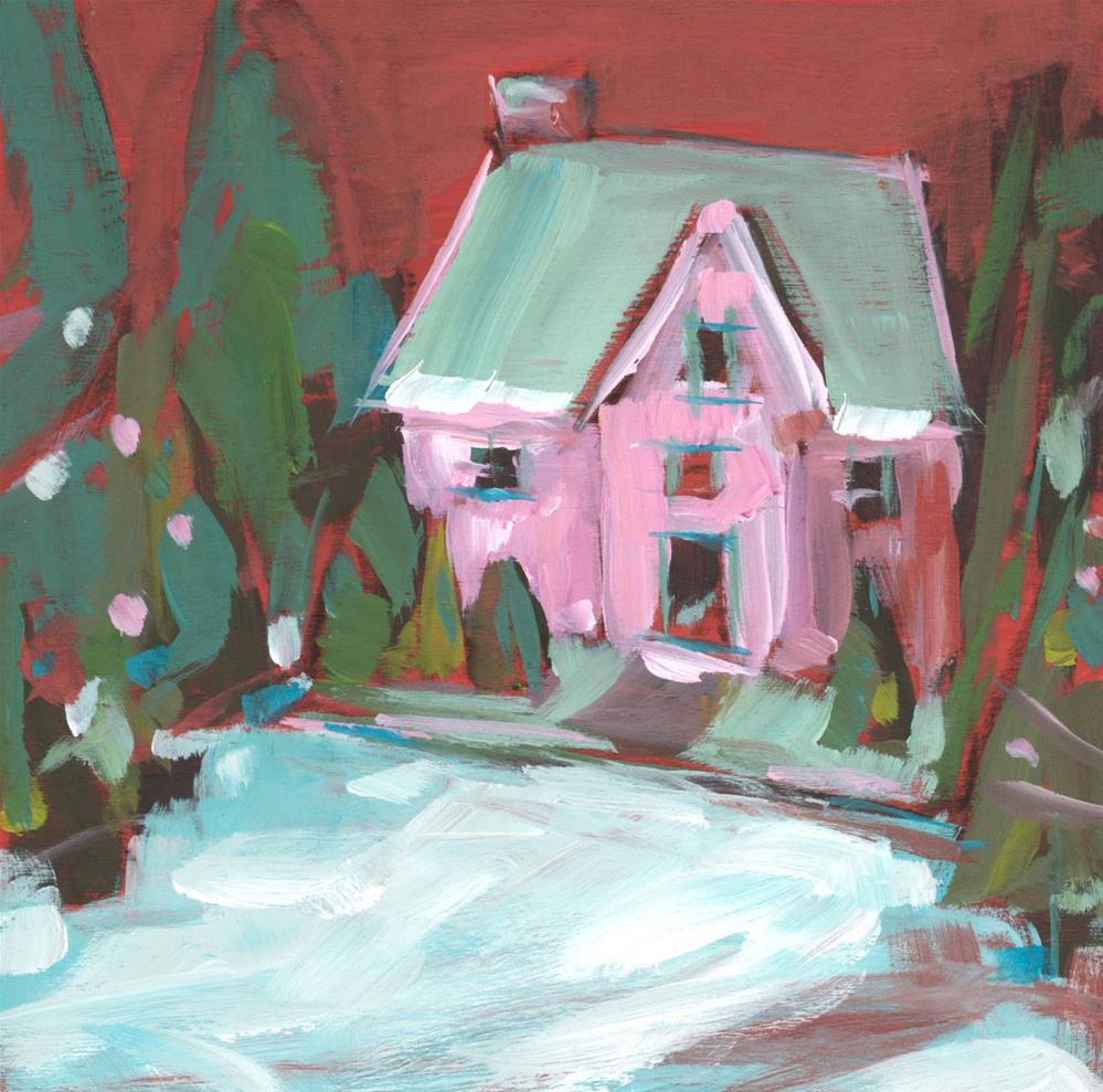 """1009: The One With the Green Roof"" original fine art by Brian Miller"