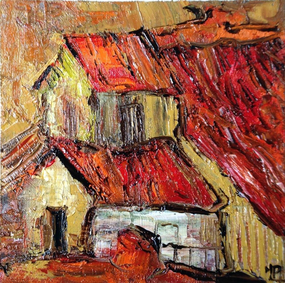 """Red tiles"" original fine art by Monica Pinotti"