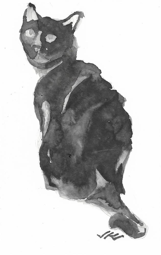 """Daily Cat 200"" original fine art by Jean Krueger"