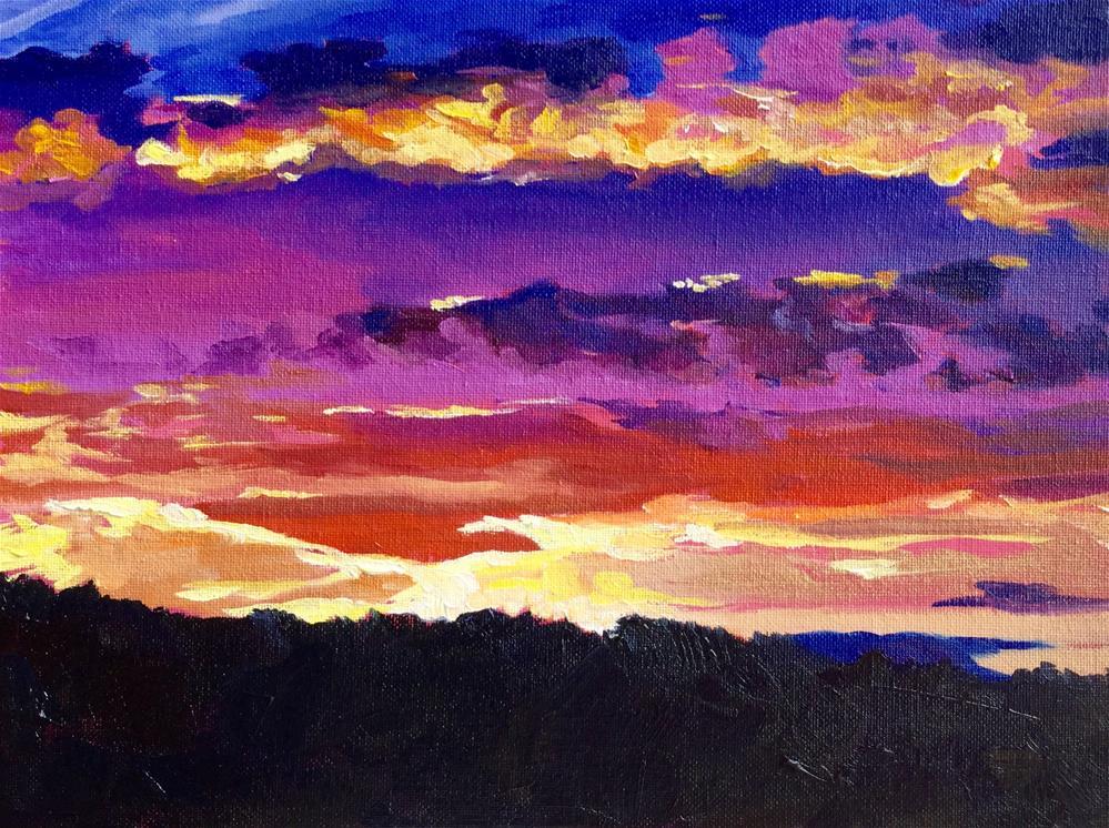 """Sun Quilt"" original fine art by Lauren Kuhn"