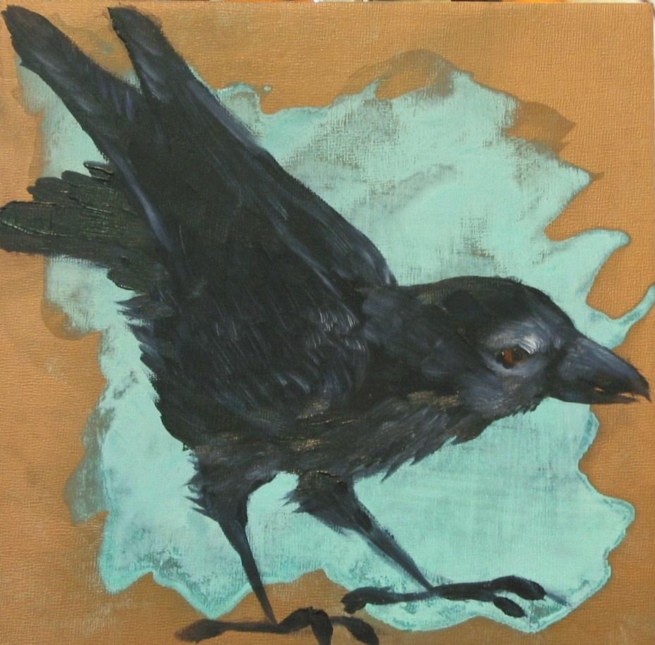 """One More Raven"" original fine art by Patricia Murray"