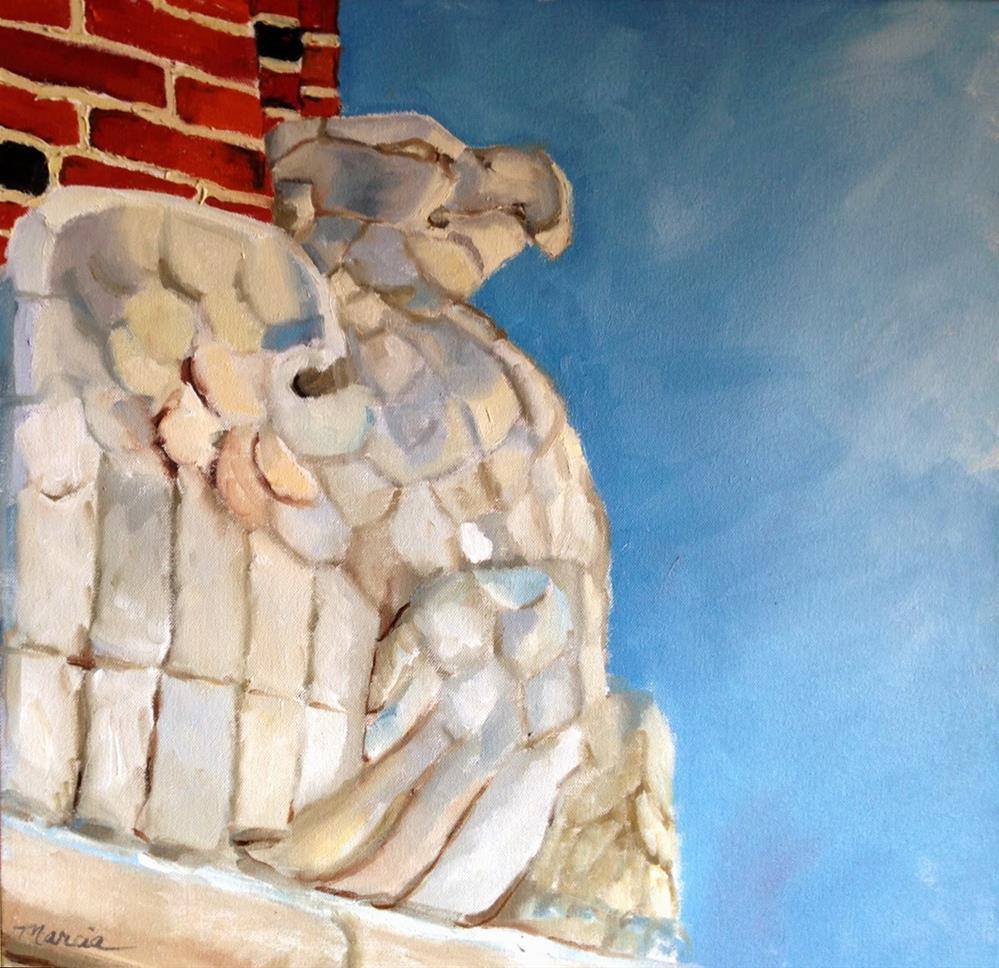 """""""Larry's Eagle"""" original fine art by Marcia Hodges"""