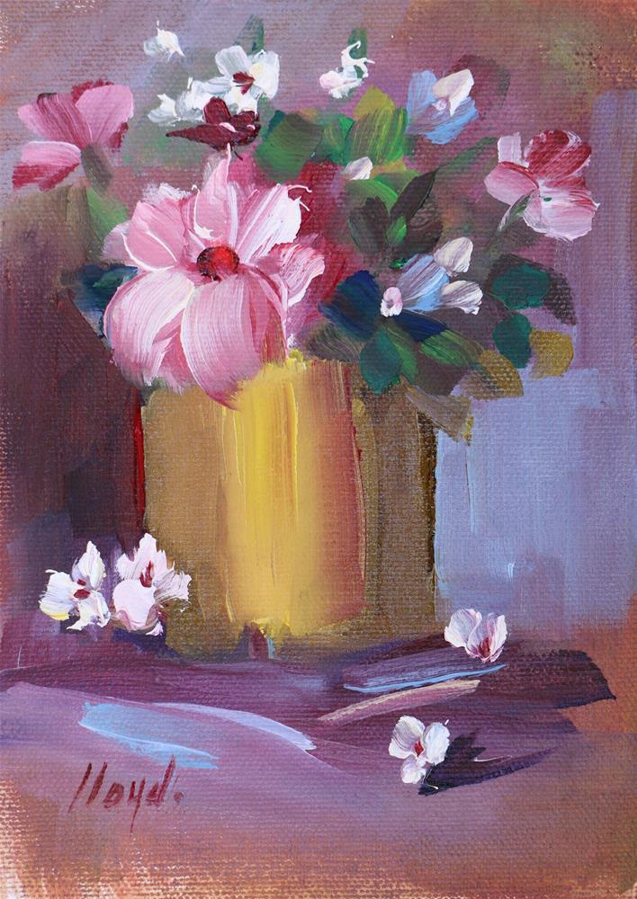 """Four Petals"" original fine art by Diane Lloyd"
