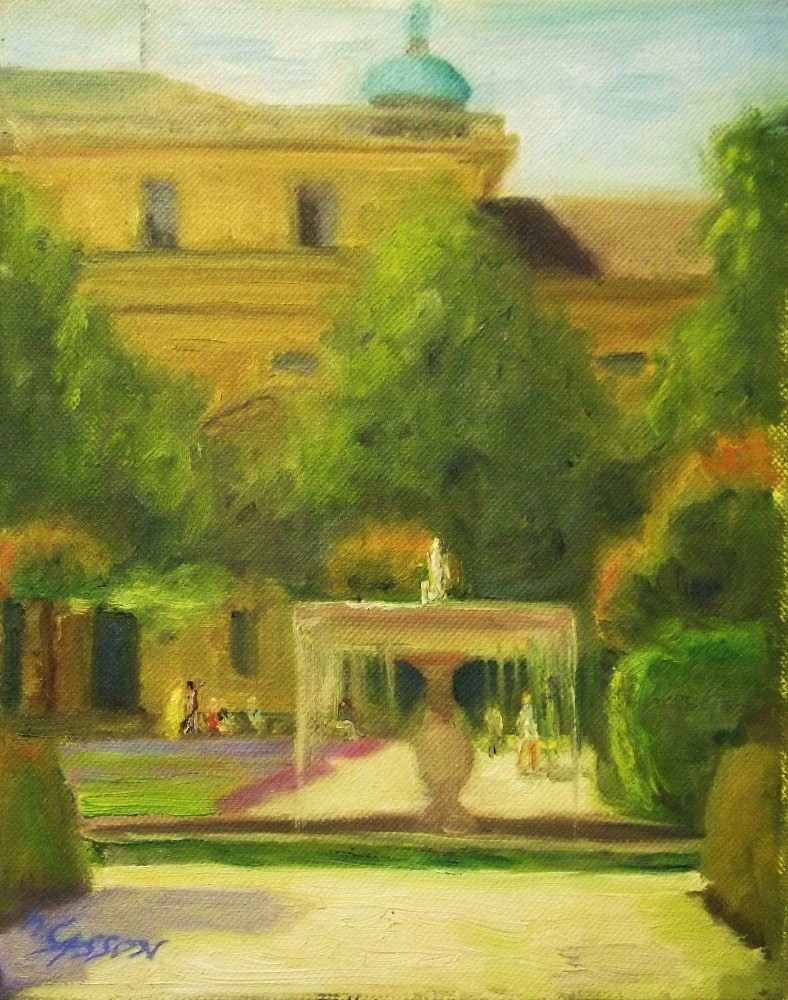"""Royal Home"" original fine art by Michael Sason"