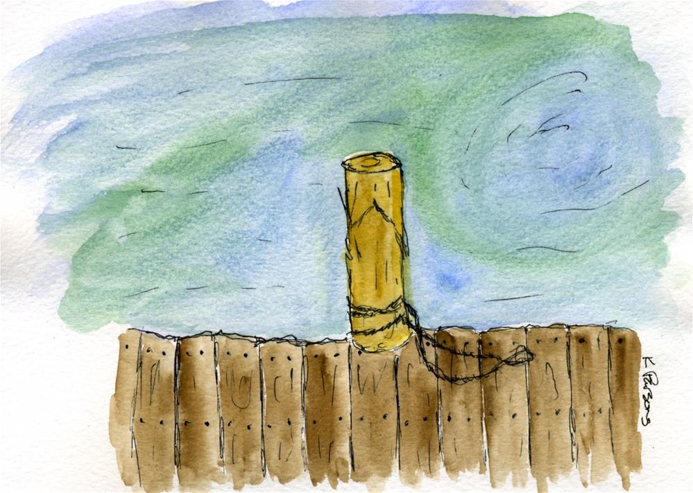 """""""The Pier"""" original fine art by Kali Parsons"""