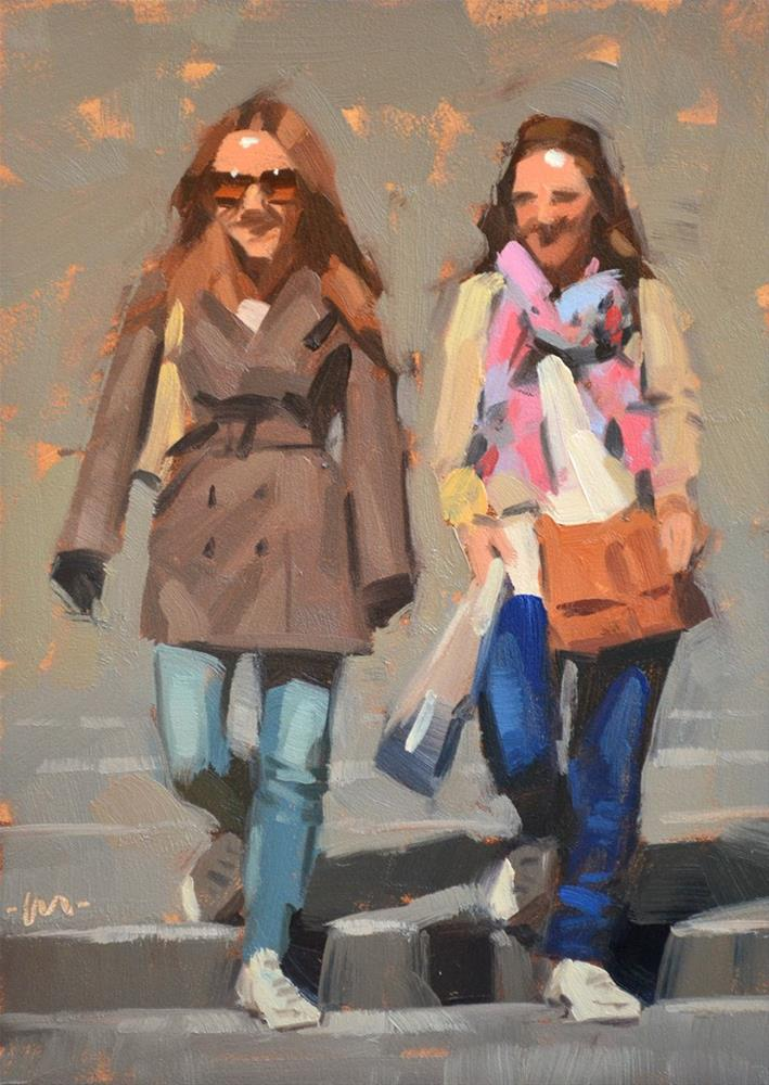 """""""Dressed For the Town"""" original fine art by Carol Marine"""