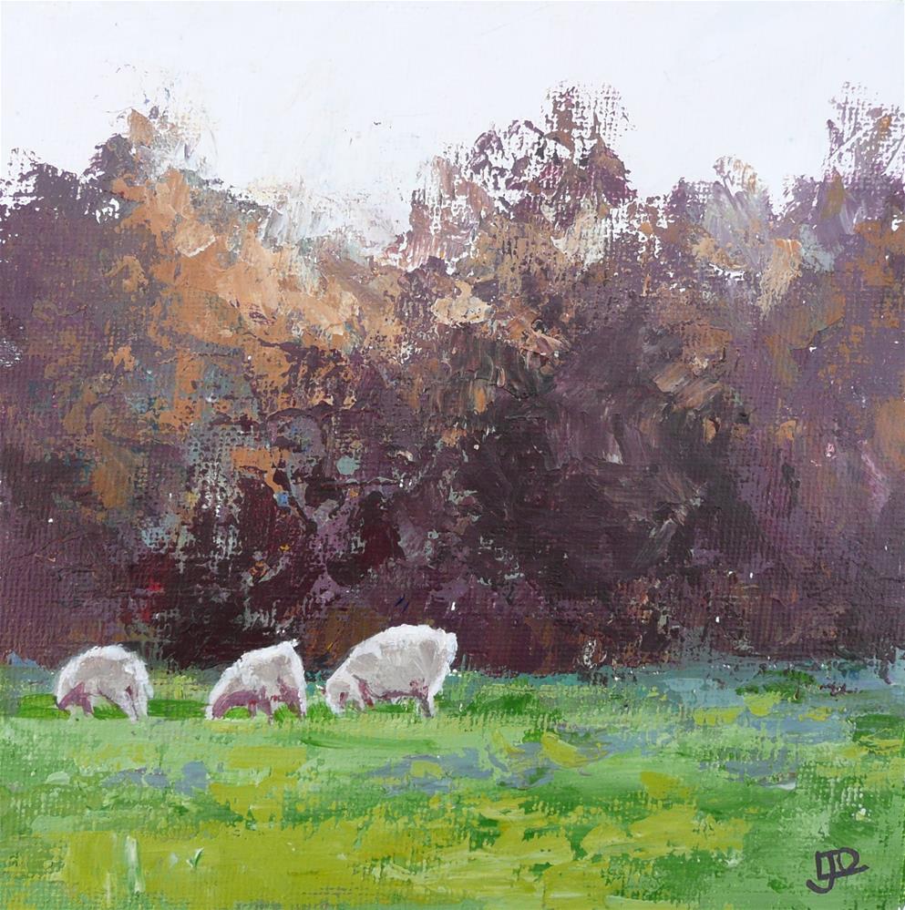 """""""Early Morning Graze"""" original fine art by Leanne Owen"""
