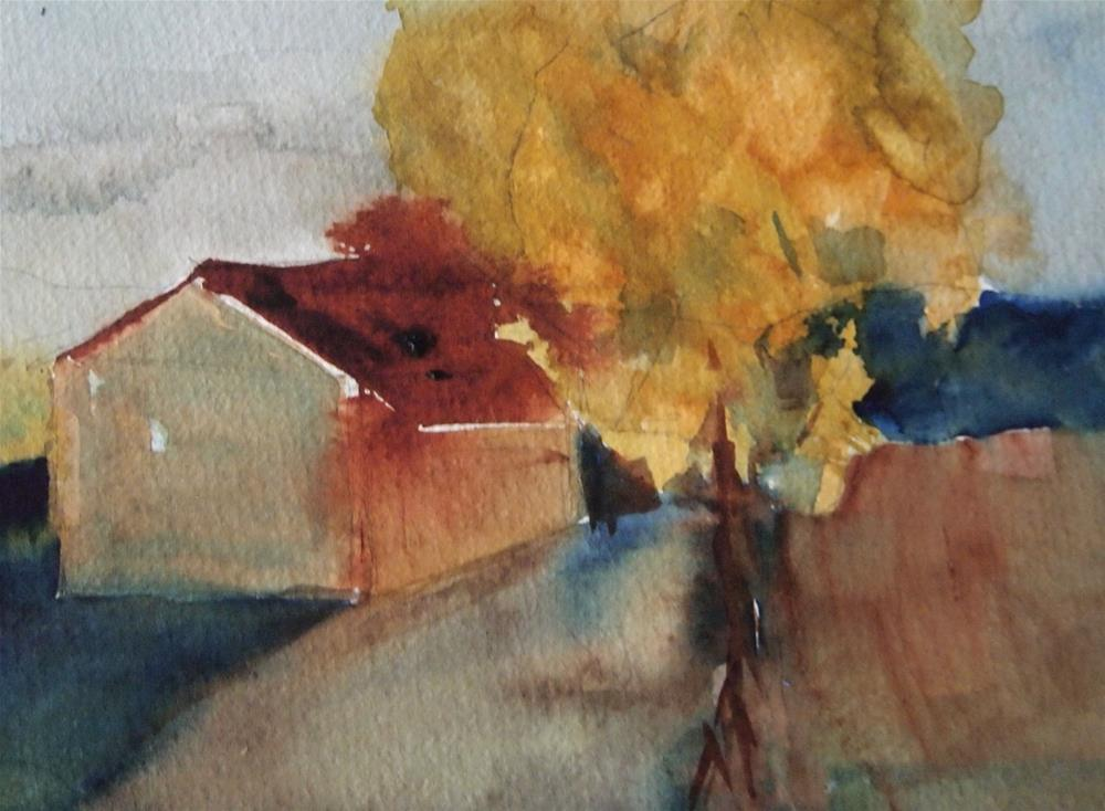 """""""House and Tree"""" original fine art by Amy Bryce"""