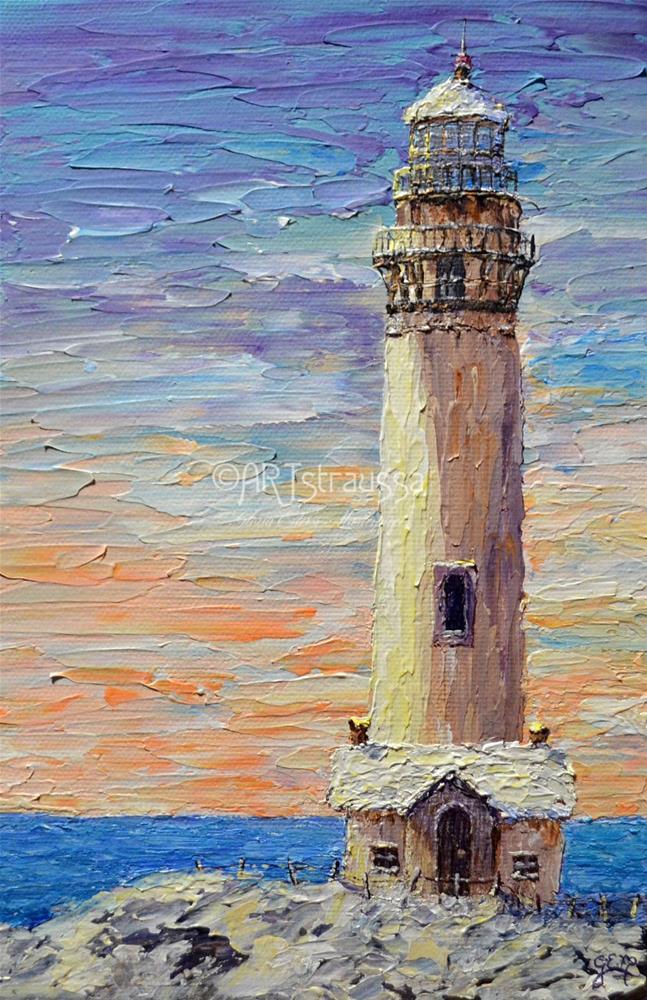 """Pigeon Point Lighthouse"" original fine art by Gloria Ester"