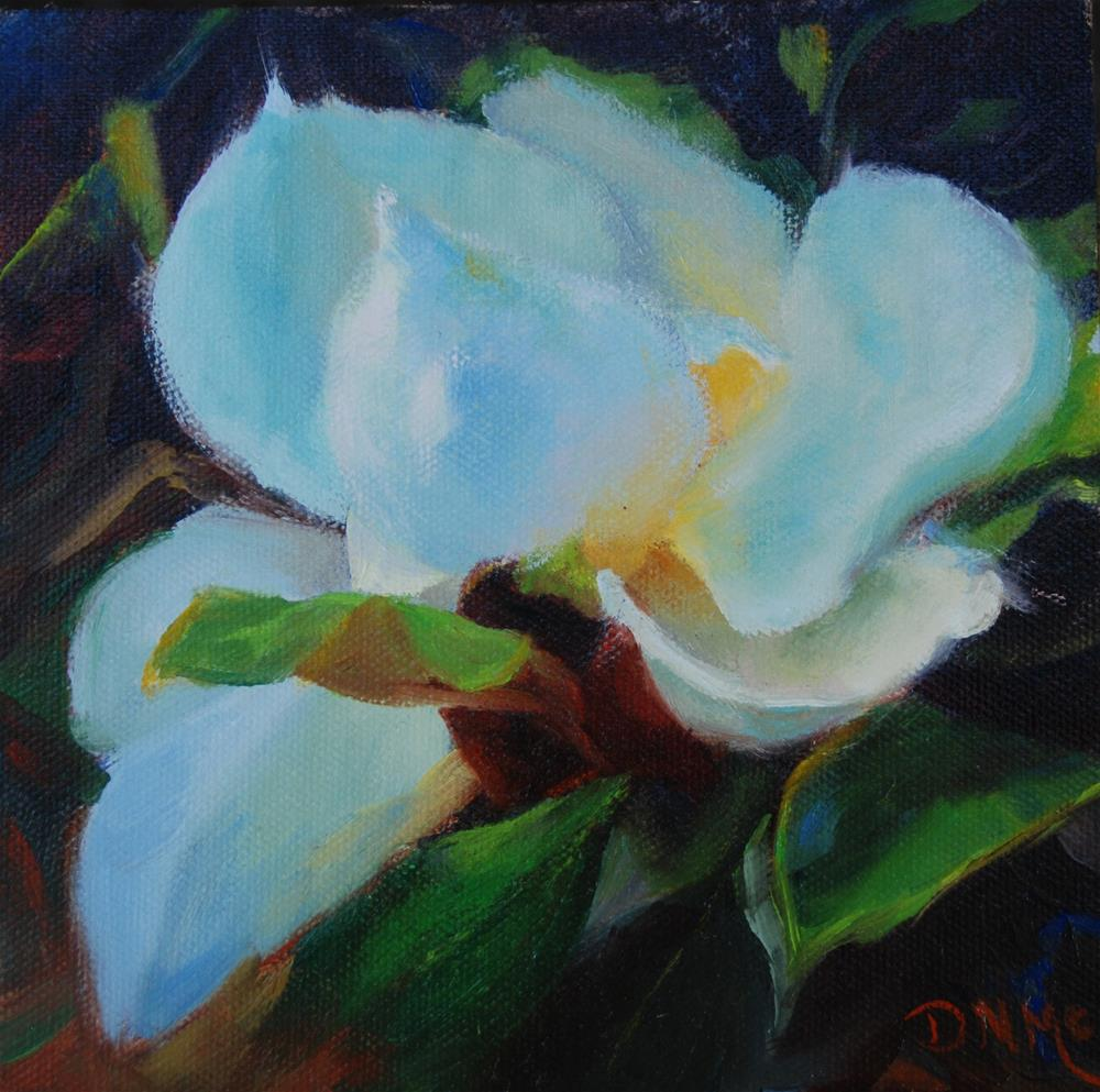 """Magnolia"" original fine art by Dorothy McLennan"