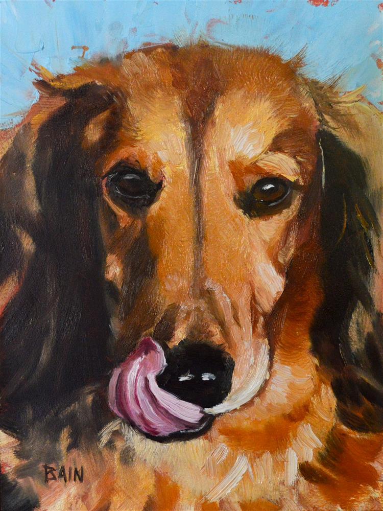 """Slurp!"" original fine art by Peter Bain"