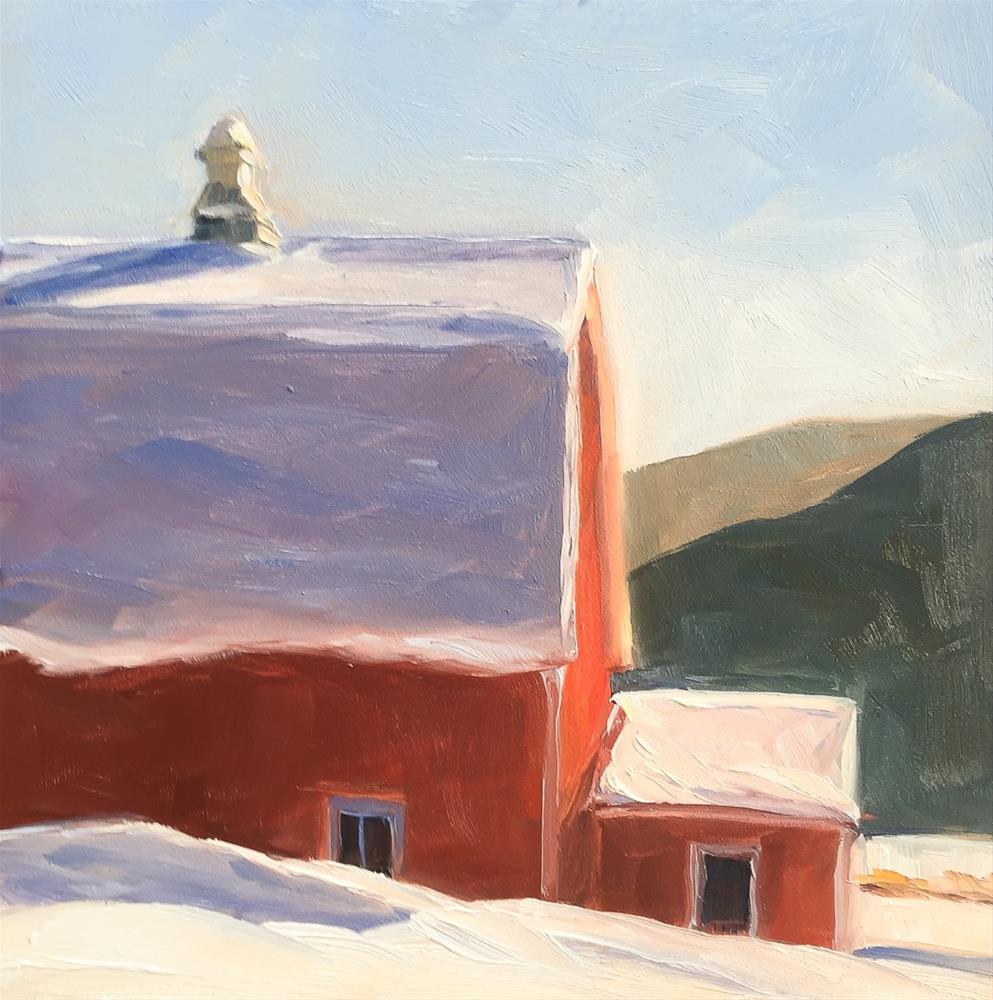 """#58 - Red Barn - NE Kingdom, VT"" original fine art by Sara Gray"