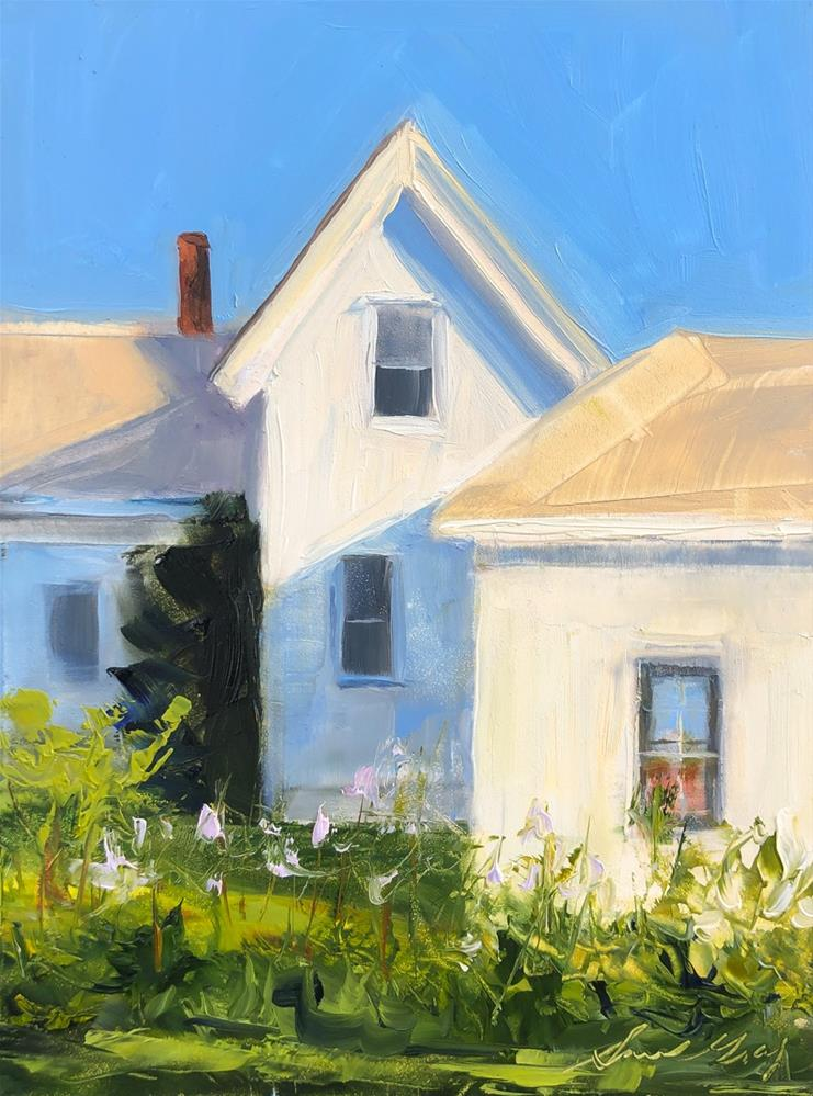 """#220 -Lightkeeper's House-Dyce Head Lt-Castine, ME"" original fine art by Sara Gray"
