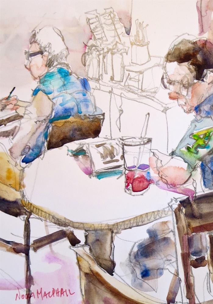 """raspberry iced tea"" original fine art by Nora MacPhail"